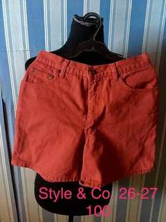 Style and Co. Highwaist shorts