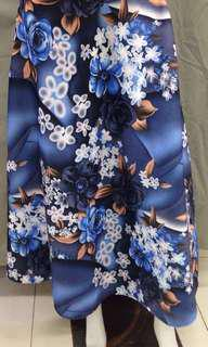 PO: Maxi Skirt - Blue Floral