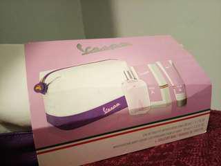Vespa Toiletry Bag With Eau de Toilette Vaporisateur Spray and Moisturizing Body Lotion