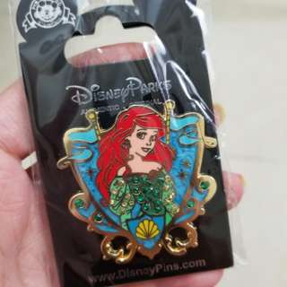 Ariel Disney Pin 美人魚上海迪士尼徽章