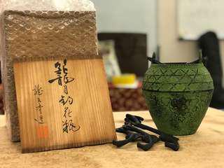 龍文堂 鐵花瓶