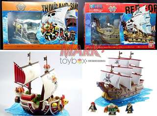 ONE PIECE! Grand Ship Collections: Thousand Sunny Pirate Ship and Red Force Pirate Ship K.O. models