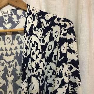 Cardigan motif navy e.look