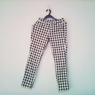 Womens Female Checkered Jeans