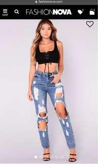 NEW! -Fashion Nova Jeans Size L