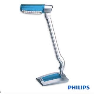 全新未拆封PHILIPS 飛利浦 23W防炫光護眼檯燈 PLEU23207 (藍色)