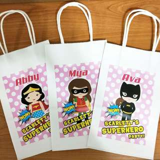 🚚 Superheroes gift bag,  paper bag,  treats bag,  goody bag