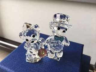 Swarovski 水晶小熊bear bear夫婦🐻🐻