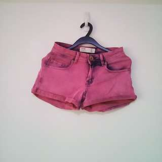Womens Purple Tie- Dyed Shorts (Cotton On)