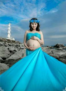 Preloved Maternity Shoot Dress For Baby Boy