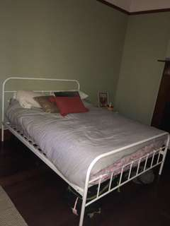 Queen sized bed with or without mattress