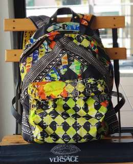 Authentic Versus by Versace Nylon Multicolor Backpack Stampato