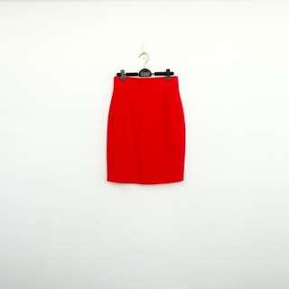 🚚 二手 紅色 高腰 短裙 明太子 709