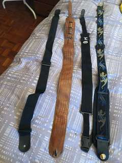 4 guitar/bass straps for sale