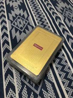(代購) Supreme 13AW Classic Scene Bicycle Playing Card Gold Cards