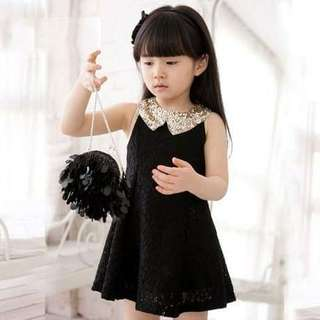 Kids girl Korea style lace dress