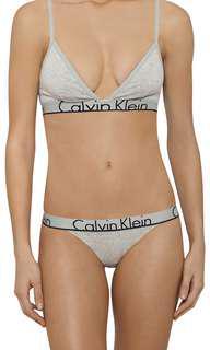 Calvin Klein Unlined Triangle Bralette & Brief