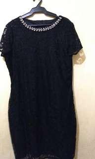 Plus Size Lace Evening Dress