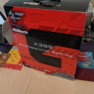 COMBO : AMD Threadripper 1950X (16 cores) + Asrock x399 motherboard + 64 GB DDR4