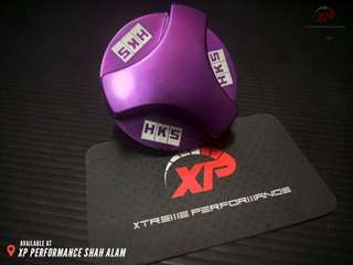 Engine Oil Cap HKS for Honda Purple color