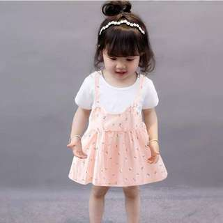 Baby girls cotton flower dress