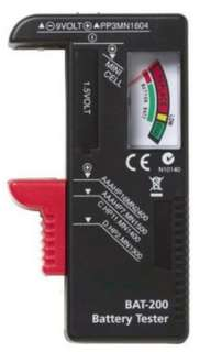 Battery tester AA/AAA/C/D sizes , 9v
