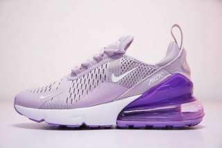 New Authentic Nike Air Max 270 Flyknit Shoes (Purple & White)