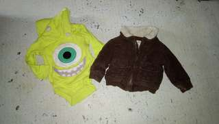 Baby boy jacket and onesie