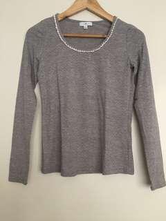 Cache Cache gray blouse