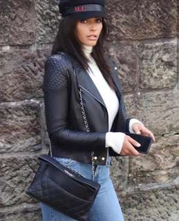 """Zaliah """"The One and Only"""" Genuine Leather Jacket - Size 6 BNWT"""