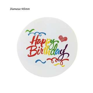 (Pre-order) NEW 50 pieces Happy Birthday sticker tag