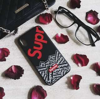 NEW!! SUPREME CASE IPHONE X JUAL MURAH