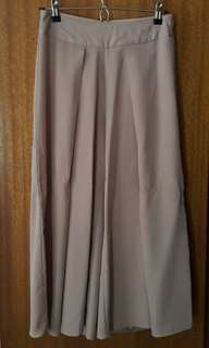 Mirrou Beige Culottes with front slit