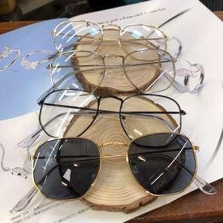 ❤️復古流行鏡框(墨鏡、平光)❤️時尚好搭