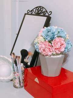 Handmade Paper Flowers in Pot (Made to Order)