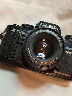 MINOLTA X700 & 50 mm f 1.7