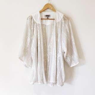 Ecoté by Urban Outfitters White Kimono