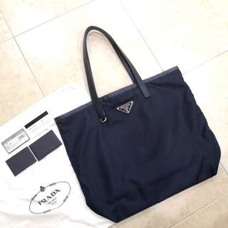 *Free postage😁 100% Authentic Prada Nylon Tote bag-With dust bag and care card
