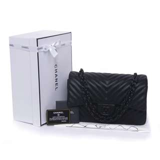 Chanel Classic Chevron So Black 9605V