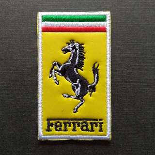 Ferrari Logo Sports Car Sew On / Glue On Patch