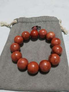 Red Rose Wood Bracelet