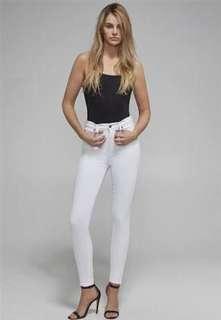Bardot Khloe Super high white size 7