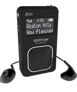 (147) AZATOM Pro Sports S1 DAB Digital Portable FM Radio DAB DAB+ & FM - Built-in Rechargable Battery (Upto 20 Hours Playtime) - Compact - Built-in Speaker - Earphones included (Black)