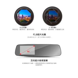 愛國者  CL350 GPS測速 1296P雙鏡頭  行車記錄器  (16G卡)