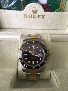 Rolex automatic gold and silver