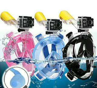 Diving snorkeling mask for gopro