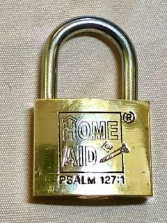 HOME AID PSALM 127:1 Lock