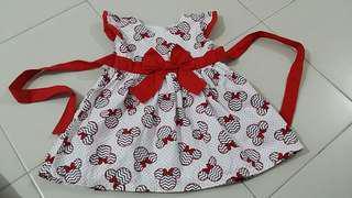 Babygirl minnie red blue white dress 9months