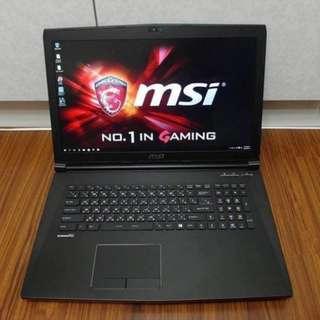 【出售】MSI GP72 6QE i7-6700HQ 四核心 電競筆電 (雙硬碟)