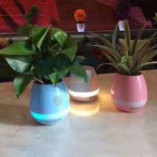 LED Music Flowerpot with Wireless Bluetooth Speaker/ Touching Sensor